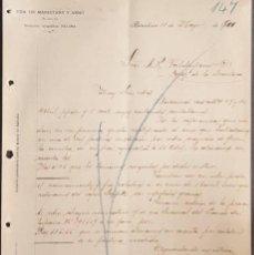 Cartas comerciales: CARTA COMERCIAL. VDA. DE MARISTANY Y ARNÓ. S. EN C. BARCELONA. ESPAÑA 1900. Lote 222232676