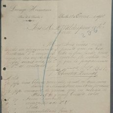 Cartas comerciales: CARTA COMERCIAL. LUENGO HERMANOS. SEVILLA. ESPAÑA 1910. Lote 222255763