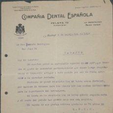 Cartas comerciales: CARTA COMERCIAL. COMPAÑÍA DENTAL ESPAÑOLA. MADRID. ESPAÑA 1918. Lote 222260210