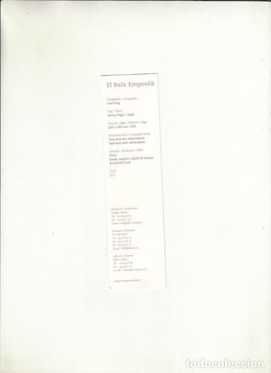 Cartas comerciales: MARCAPÁGINAS. EL BAIX EMPORDÀ. TRIANGLE POSTALS. - Foto 2 - 222533997