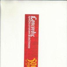 Cartas comerciales: MARCAPÁGINAS. CONCORDIE. PRIMERA FARMACOPEA DEL MÓN. FETA PER FARMACÈUTICS.. Lote 222534245