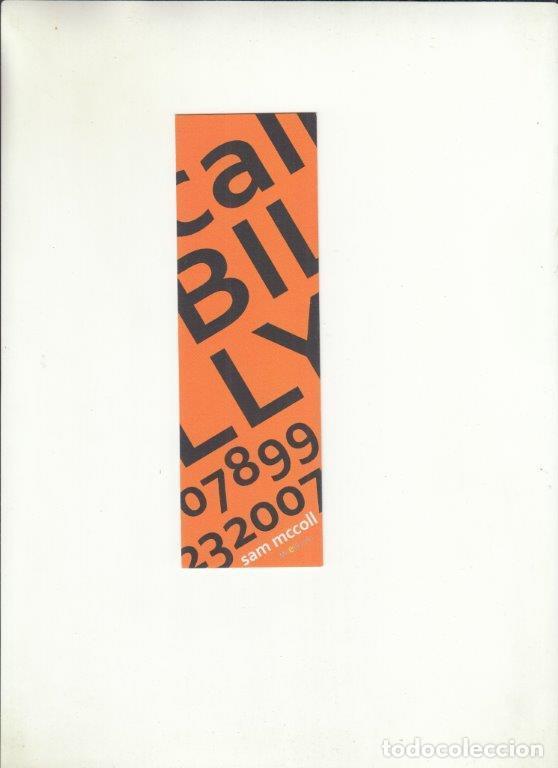 MARCAPÁGINAS. SAM MCCOLL. (Coleccionismo - Documentos - Cartas Comerciales)