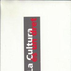 Cartas comerciales: MARCAPÁGIAS. LA CULTURA ÉS UN DRENT. GENERALITAT DE CATALUNYA.. Lote 222537378