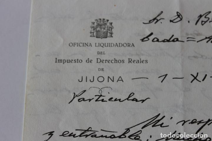 Cartas comerciales: OFICINA LIQUIDADORA JIJONA, 1937, 2 DOCUMENTOS - Foto 3 - 222580770