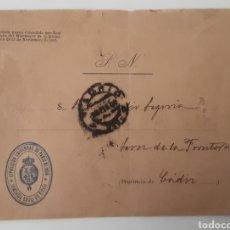Cartas comerciales: CARTA SOBRE SELLO EXPOSICIÓN UNIVERSAL DE PARIS 1900 COMISARÍA REGIA DE ESPAÑA. Lote 222605288