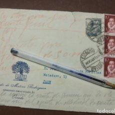 Cartas comerciales: JABON CARBAYON. VIUDA DE MATIAS RODRIGUEZ. OVIEDO 1951.. Lote 222608451