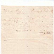 Cartas comerciales: MUY ANTIGUA CARTA COMERCIAL. DE COMERCIO ULTRAMARINOS ZARAGOZA A CLIENTE DE ALBALATE, TERUEL. 1876. Lote 222687125