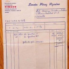 Cartas comerciales: FACTURA ESTACIÓN DE SERVICIO Y RESTAURANTE. 1976. JUMILLA. MURCIA. Lote 223198197