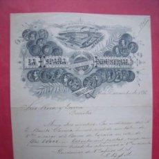 Cartas comerciales: LA ESPAÑA INDUSTRIAL.-MUNTADAS HERMANOS.-CARTA COMERCIAL.-RIVA Y GARCIA.-BARCELONA.-AÑO 1898.. Lote 223400283