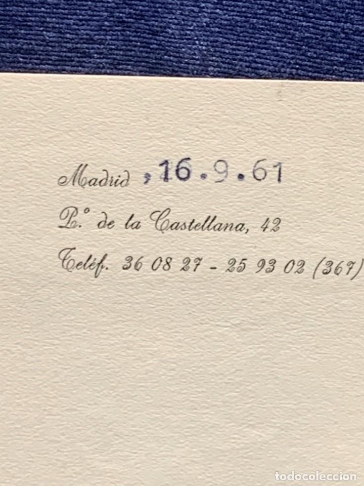 Cartas comerciales: CARTA DIRECTOR RADIO NACIONAL ESPAÑA ESTEVEZ FIRMA AUTOGRAFA 1961 - Foto 3 - 223669012