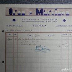 Cartas comerciales: TUDELA - ABLITAS NAVARRA LOTE 10 CARTAS COMERCIALES AÑOS 30 VARIADAS. Lote 223706308