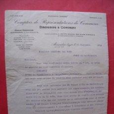 Cartas comerciales: DROSSOS Y COMPANY.-EGIPTO.-SUDAN.-CARTA COMERCIAL.-CAYETANO DEL PINO.-JEREZ DE LA FRONTERA.-AÑO 1909. Lote 224259311