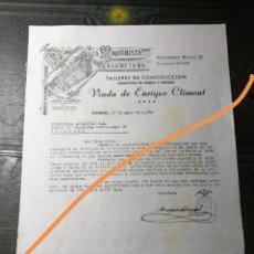 Lettres commerciales: ANTIGUA CARTA COMERCIAL. FABRICA LA MAQUINISTA VALENCIANA.VALENCIA. AÑO 1940.. Lote 225327025