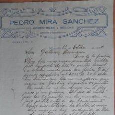 Cartas comerciales: ARQUILLOS JAÉN CARTA COMERCIAL AÑO 1925 COMESTIBLES Y BEBIDAS PEDRO MIRA SANCHEZ. Lote 226608945