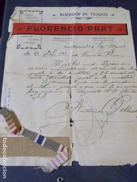 ALMACÉN DE TEJIDOS FLORENCIO PRAT (Coleccionismo - Documentos - Cartas Comerciales)