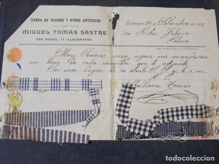 TIENDA DE TEJIDOS MIGUEL TÓMAS SASTRE (Coleccionismo - Documentos - Cartas Comerciales)