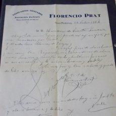 Cartas comerciales: VESTUARIOS MILITARES FLORENCIO PRAT. Lote 228612327