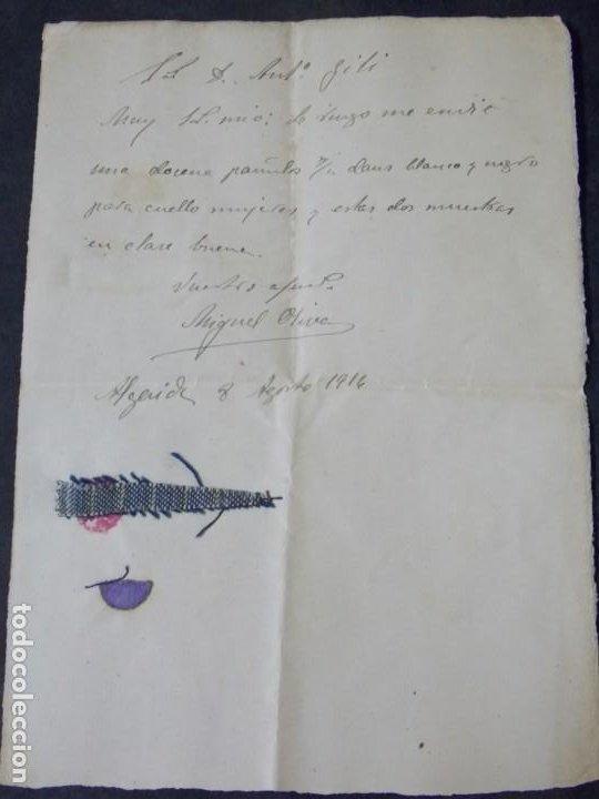 MALLORCA - ALGAIDA 8 DE AGOSTO 1916 (Coleccionismo - Documentos - Cartas Comerciales)