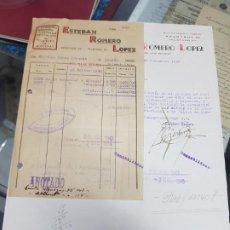 Cartas comerciales: ANTIGUA CARTA COMERCIAL FACTURA MUEBLES CARPINTERIA MOLINA DE SEGURA MURCIA 1940. Lote 229015370