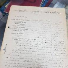 Cartas comerciales: ANTIGUA CARTA COMERCIAL MARMOLES CHIMENEAS LAPIDAS FUENTES AGUILAS MURCIA 1910. Lote 229019625