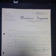Cartas comerciales: CARTA COMERCIAL DE MARIANO SOGUERO. TORRECILLA DEL REBOLLAR. TERUEL. 1948.. Lote 230878055
