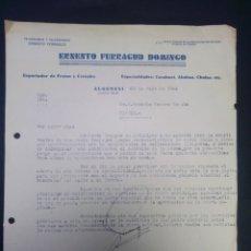 Cartas comerciales: CARTA COMERCIAL. ERNESTO FERRAGUD DOMINGO. ALGEMESÍ. VALENCIA. 1942.. Lote 230878635