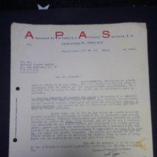 Cartas comerciales: CARTA COMERCIAL. APAS. BARCELONA. 1942.. Lote 230879760