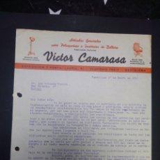 Cartas comerciales: CARTA COMERCIAL. VÍCTOR CAMARASA. BARCELONA. 1942.. Lote 230880340