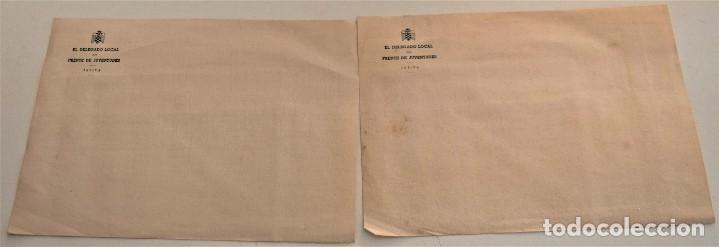 Cartas comerciales: DOS SOBRES Y DOS HOJAS DE CARTA DE EL DELEGADO DEL FRENTE DE JUVENTUDES DE JÁTIVA (VALENCIA) - Foto 4 - 234112495