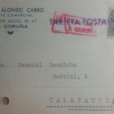 Cartas comerciales: TARJETA POSTAL CENSURA MILITAR DE LA CORUÑA AÑO 1937. Lote 234134525