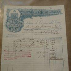 Cartas comerciales: FABRICA DE CORTES Y ALMACÉN DE CURTIDOS. SOBRINO DE CESÁREO DEL CERRO.. Lote 234802065