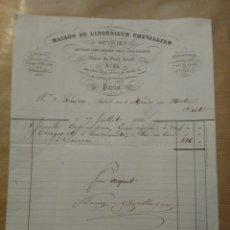 Cartas comerciales: MADISON DE L ' INGENIEUR CHEVALLIER OPTICIEN. PARIS 1862. Lote 234802625