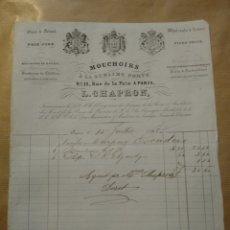 Cartas comerciales: MOUCHOIRS A LA SUBLIME PORTE LA. CHAPRON. PARIS 1863. Lote 234802855