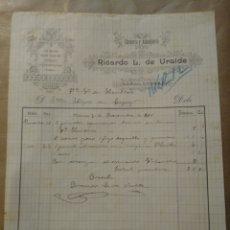 Cartas comerciales: RICARDO L. DE URALDE CANTERÍA Y ALBAÑILERÍA. VITORIA. 1890. Lote 234804510