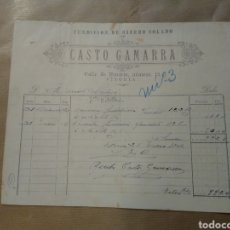 Cartas comerciales: CASTRO GAMARRA. FUNDICIÓN DE HIERRO COLADO. VITORIA. Lote 234807790