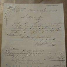 Cartas comerciales: FABRICA DE ARMAS DE FUEGO J. LARRAÑAGA. EIBAR 1901. FIRMA PROPIETARIO.. Lote 234808915