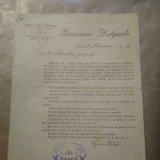 Cartas comerciales: FABRICA DE GUSTARÍA. GERVASIO DELGADO. VITORIA. Lote 234809930