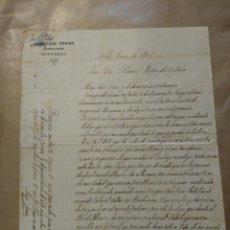 Cartas comerciales: GREGORIO GÓMEZ. GUARNICIONERO SOPUERTA. FIRMA PROPIETARIO 1901 VIZCAYA. Lote 234810435