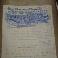 Cartas comerciales: GRAN FABRICA DE HEBILLAS Y CADENAS. LUIS CREUS. HOSPITALET BARCELONA. Lote 234813085