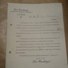 Cartas comerciales: LUIS GORROCHATEGUI. CORREDOR DE COMERCIO VITORIA. Lote 234814080