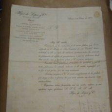 Cartas comerciales: HIJOS DE LÓPEZ Y CIA. FABRICA DE CURTIDOS. VITORIA. PRECIOS. 1904.. Lote 234815930