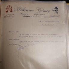 Cartas comerciales: FELICIANO GOMEZ . JUGUETES .MADRID 1932. Lote 235336655