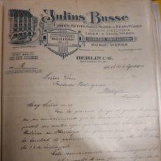 Cartas comerciales: JULIOS BUSSE . BERLÍN 1912 .. Lote 235337750