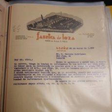 Cartas comerciales: FABRICA DE LOZA .HIJOS DE ANTONIO S.POLA. GIJON 1935. Lote 235338580