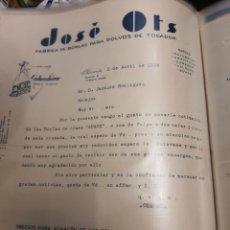 Cartas comerciales: JOSÉ OTS ALICANTE 1936. Lote 235338820