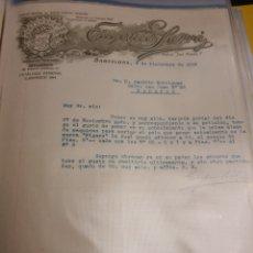 Cartas comerciales: EUGENIO SARRA BARCELONA 1915 .. Lote 235339835