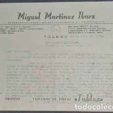 Cartas comerciales: CARTA COMERCIAL. MIGUEL MARTÍNEZ IBARZ. REPRESENTACIONES. TOLEDO. ESPAÑA 1951. Lote 236052285