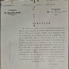 Cartas comerciales: CARTA COMERCIAL. COMISARÍA DE D. ANTONIO FELIU. BARCELONA. ESPAÑA 1925. Lote 236052505