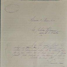 Cartas comerciales: CARTA COMERCIAL. FRANCÍSCO SAEZ. ALGECIRAS. ESPAÑA 1926. Lote 236052895