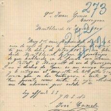 Cartas comerciales: MONTBLANC - 1904 - CARTA COMERCIAL ANTIGUA - EMPRESA HISTORICA - JOSE CANELA. Lote 236615925